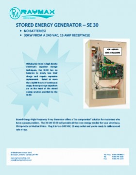 STORED ENERGY X-RAY GENERATOR – SE30