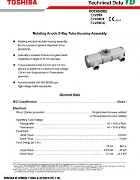 E7239X/E7239FX/E7239GX Rotating Anode X-Ray Tube Housing Assembly